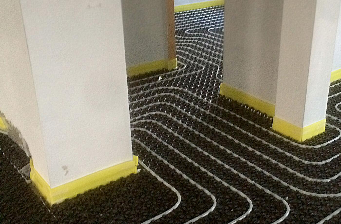 riscaldamento a pavimento - villa privata