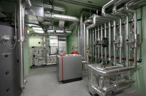 impianto termico, pompa di calore - villa privata