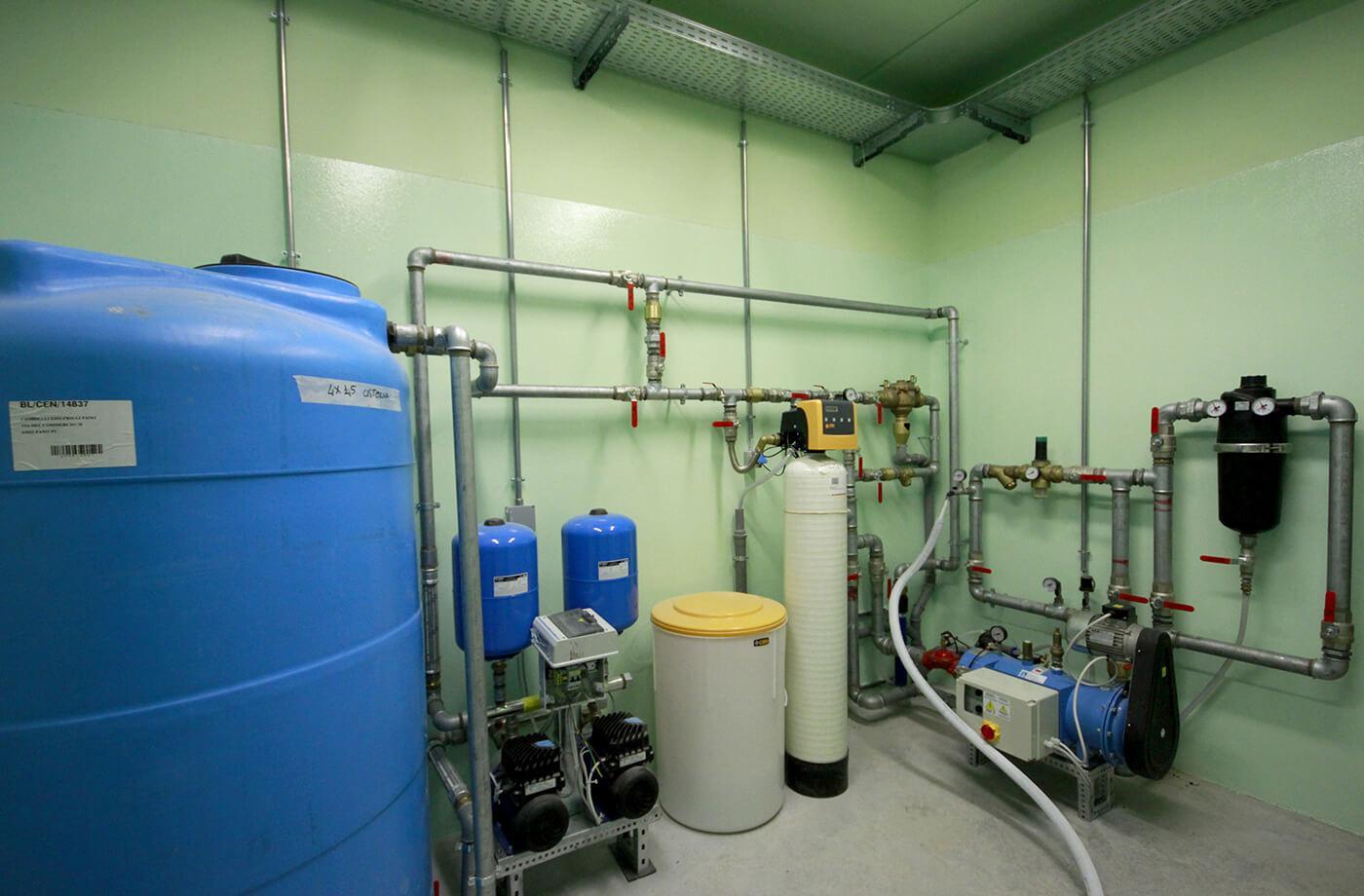 impianto recupero acqua - villa privata