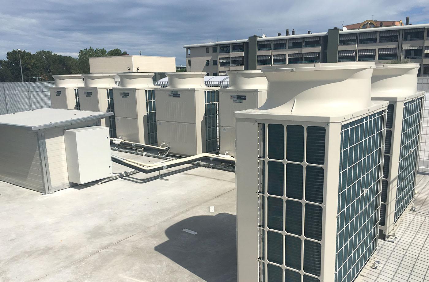 Impianto trattamento aria Conad